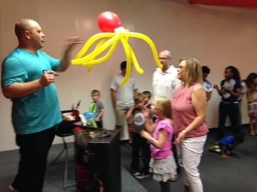 Balloon Twisters at a party