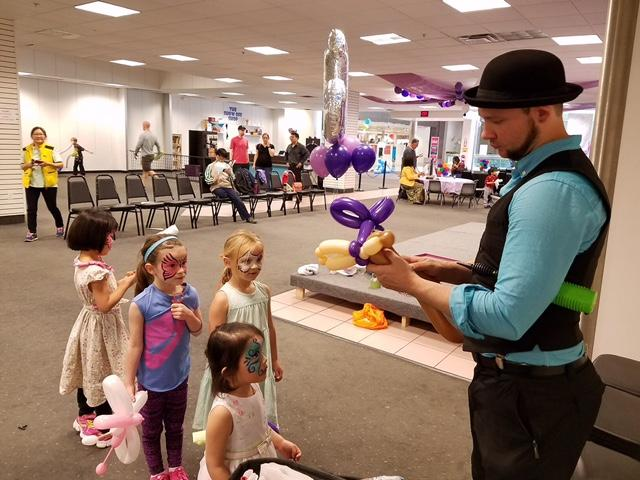 Balloon twisting kid's party